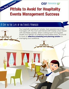 The most common pitfalls to avoid for hospitality events management success infograph